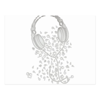 Headphones Postcard