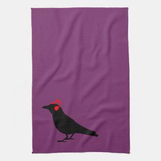 Headphones Raven Tea Towel