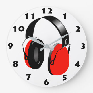 HEADPHONES (RED) Wall Clock