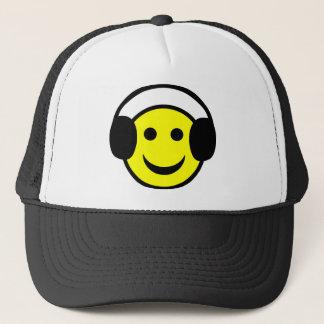 Headphones Smiley Trucker Hat