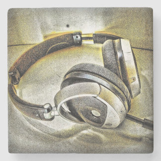 Headphones Stone Coaster