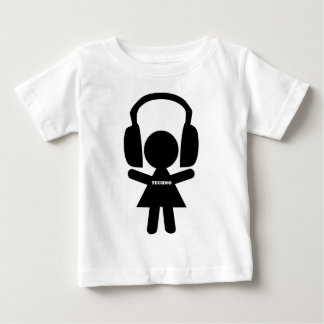 Headphones Techno Music Baby T-Shirt