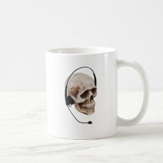 HeadphoneSkull042109 Basic White Mug