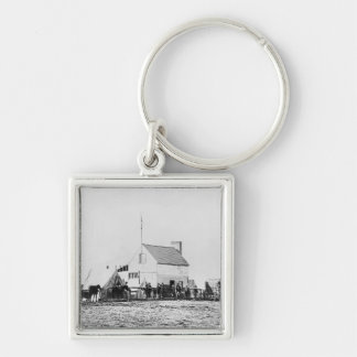 Headquarters of Sanitary Commission Silver-Colored Square Key Ring