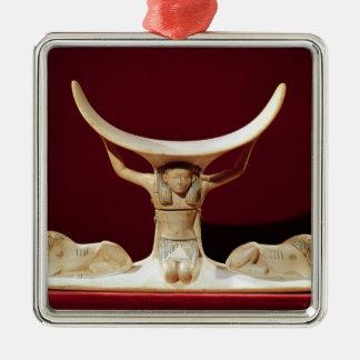 Headrest with Shu, the Egyptian God of the Air Christmas Ornament