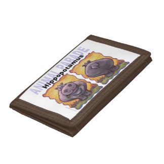 Heads and Tails Hippo Tri-fold Wallets