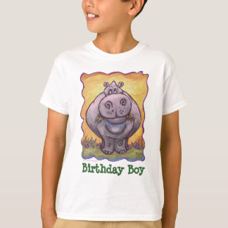 Heads and Tails Hippopotamus Birthday Boy T-Shirt