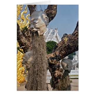 Heads Hanging from Tree, White Temple, Thailand Card