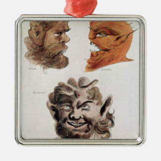 Heads of Evil Demons Christmas Ornament