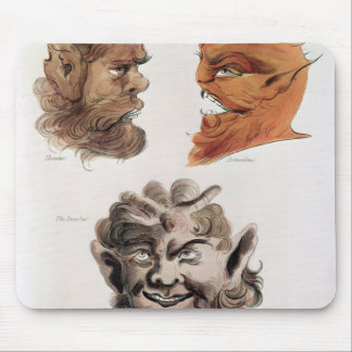 Heads of Evil Demons Mouse Pad