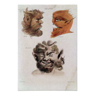 Heads of Evil Demons Poster