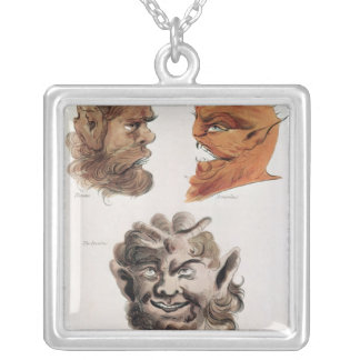 Heads of Evil Demons Silver Plated Necklace