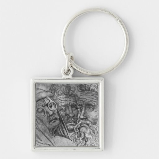 Heads of three men, from the The Vallardi Album Keychains