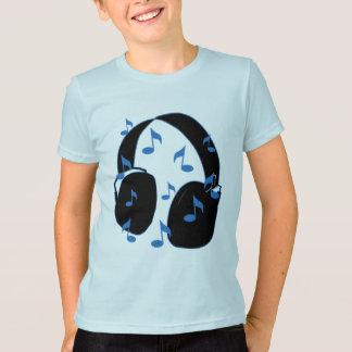 Headset with Musical Notes for Baby in Blue T Shirts