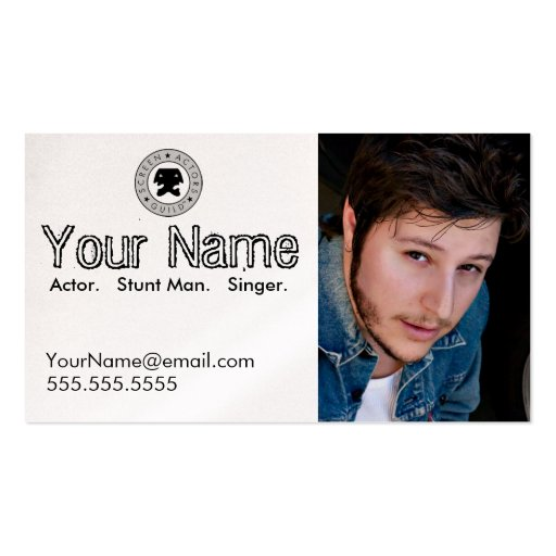 Collections of entertainer business cards headshot business card for the working actor colourmoves