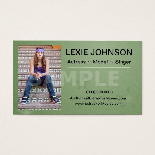 Headshot Business Cards - Models & Actors 2