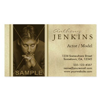 Headshot Sepia Texture Model Actor Business Cards