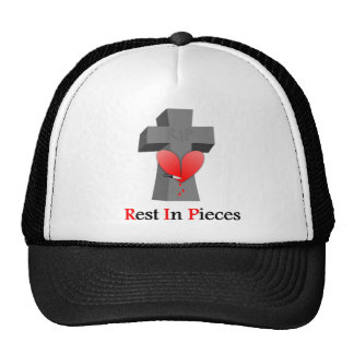 Headstone Heart Rest in Pieces Cap