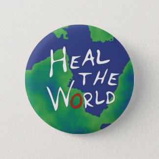 Heal the World 6 Cm Round Badge