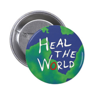 Heal the World 6 Cm Round Badge