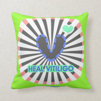 Heal Vitiligo Pillow Throw Cushions
