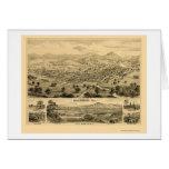 Healdsburg, CA Panoramic Map - 1876 Card