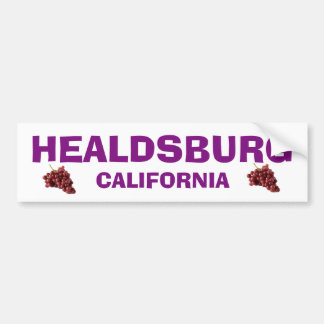 Healdsburg California Bumper Sticker