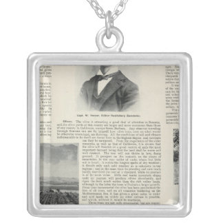 Healdsburg, California Silver Plated Necklace