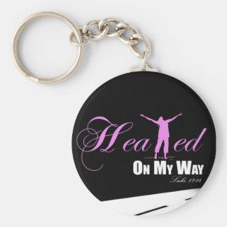Healed on my Way (Pink &, Black ) Keychain