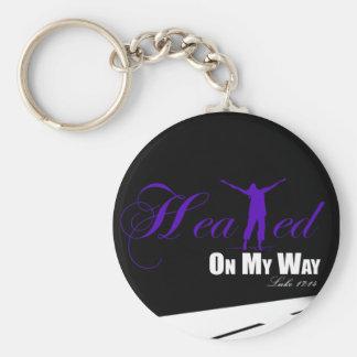 Healed on my Way Purple/Black Keychain