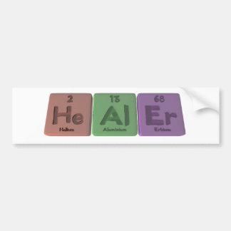 Healer-He-Al-Er-Helium-Aluminium-Erbium.png Car Bumper Sticker