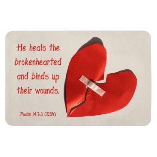 Healer of Broken Hearts Psalm 147:3 Scripture Art Vinyl Magnet