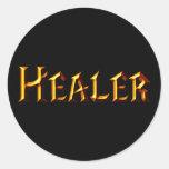 Healer Round Stickers