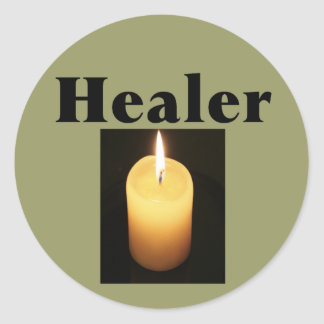 """""""Healer"""" With Soft Glowing Candle Sticker"""