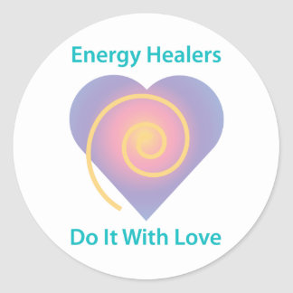 Healers Do It With Love Classic Round Sticker