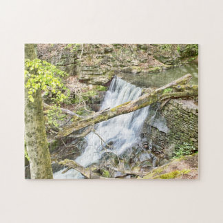 Healey Dell  Rochdale Waterfall Jigsaw Puzzle