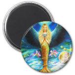 Healing Angel 6 Cm Round Magnet