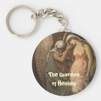 Healing angel, The Guardian of Healing Basic Round Button Key Ring