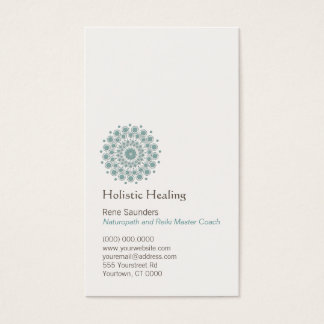 Healing Arts and Natural Healing Circle Logo Business Card