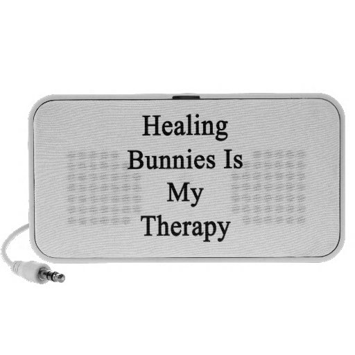 Healing Bunnies Is My Therapy iPod Speakers