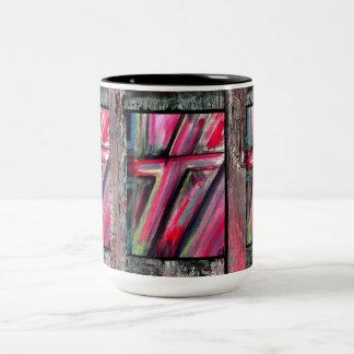 Healing Cross Two-Tone Coffee Mug