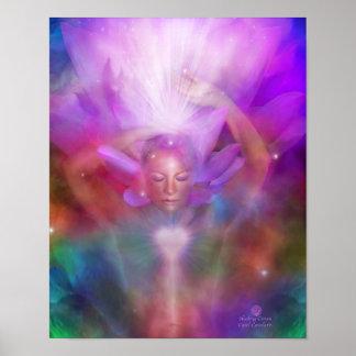 Healing Crown Chakra Art Poster/Print