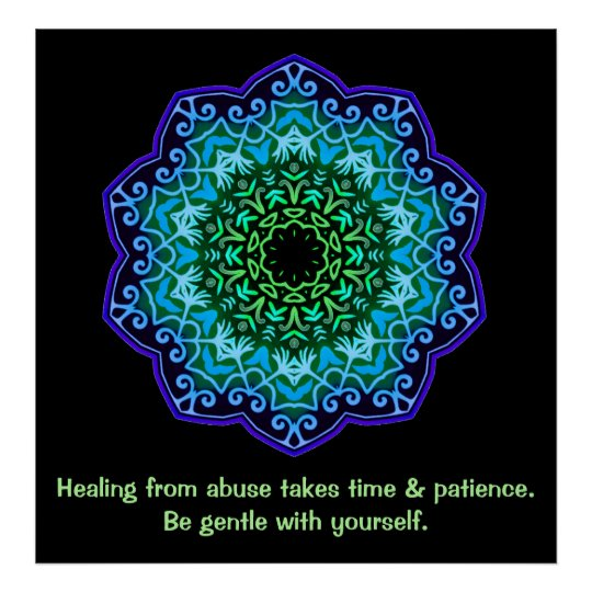 Healing from Abuse Mandala Inspirational Poster
