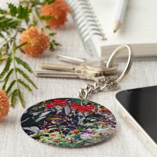 Healing Garden Basic Round Button Key Ring