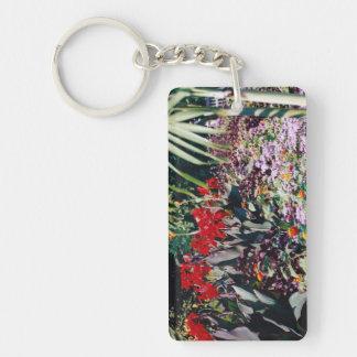 Healing Garden Rectangular Acrylic Keychain