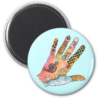 Healing Hand 6 Cm Round Magnet