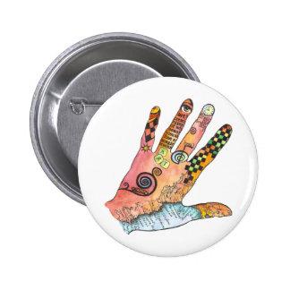 Healing Hand Pinback Button