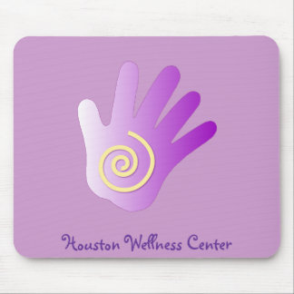 Healing Hand - Purple Mouse Mat