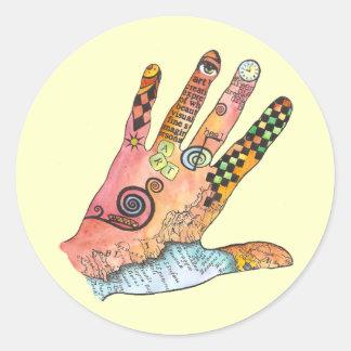 Healing Hand Round Sticker