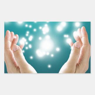 Healing hands 1 rectangular sticker